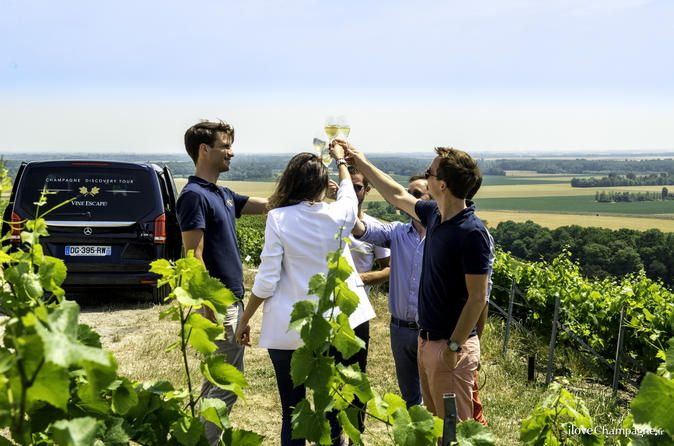 Small Group Full day Tour to the Champagne Region with Champagne Tastings from Reims You will be guided from your hotel or place of arrival and will discover the beauty of the Champagne region and its producers. You will be led to a former Champagne House for a Master class where you will enjoy an introduction to Champagne (process, history, geography) and taste 3 different Champagne producers. You will then have a traditional lunch with Champagne pairings. After lunch you wil...
