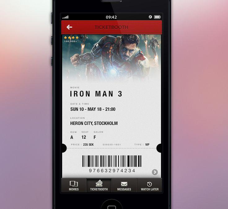 Real_pixels UI design iron man ticket