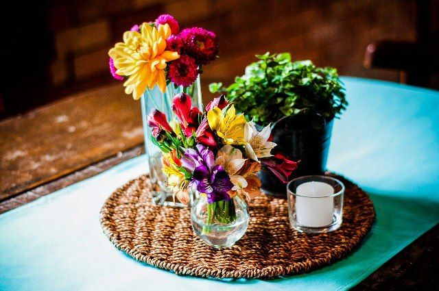 centros de mesa para bodas - beautifulbluebrides.com