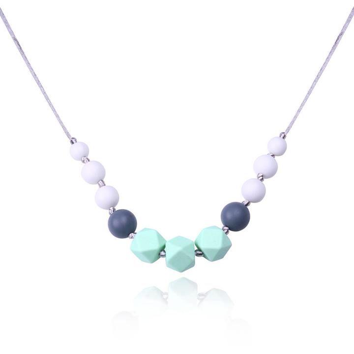Mom to wear 100/% food grade silicone UK Bangle Baby Teether Nursing Bracelet