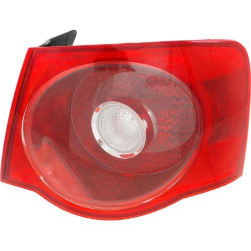 2005-2007 Volkswagen Jetta Tail Lamp RH, Outer, Assembly, Red Lens, Sedan