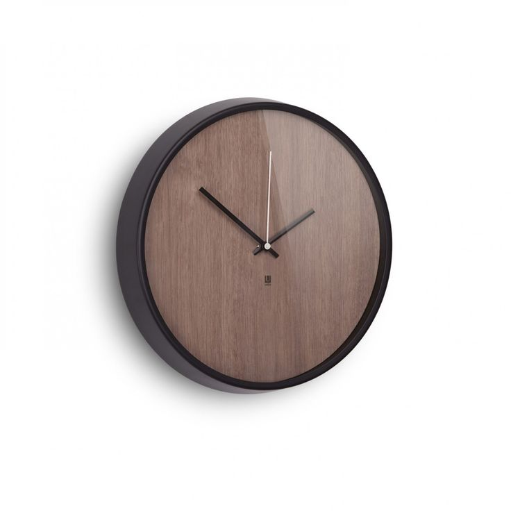 Umbra | Madera - wall clock (walnut) | Ø 31.8 cm | design by Alan Wisniewski   Designer:  Alan Wisniewski (Inspired by classic look of Moma Clock (Crate&Barrel).