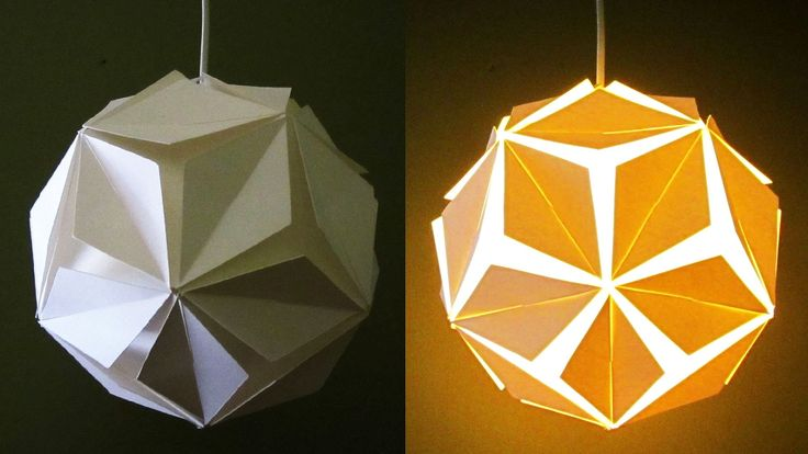 DIY lamp/lantern (5 petals) - learn how to make a paper pendant light - EzyCraft