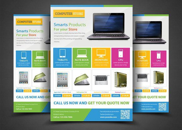 Product Promotion Flyer Templates by AfzaalGraphics on @creativemarket