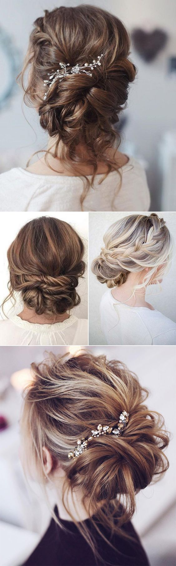 beautiful loose bridal updo hairstyle ideas