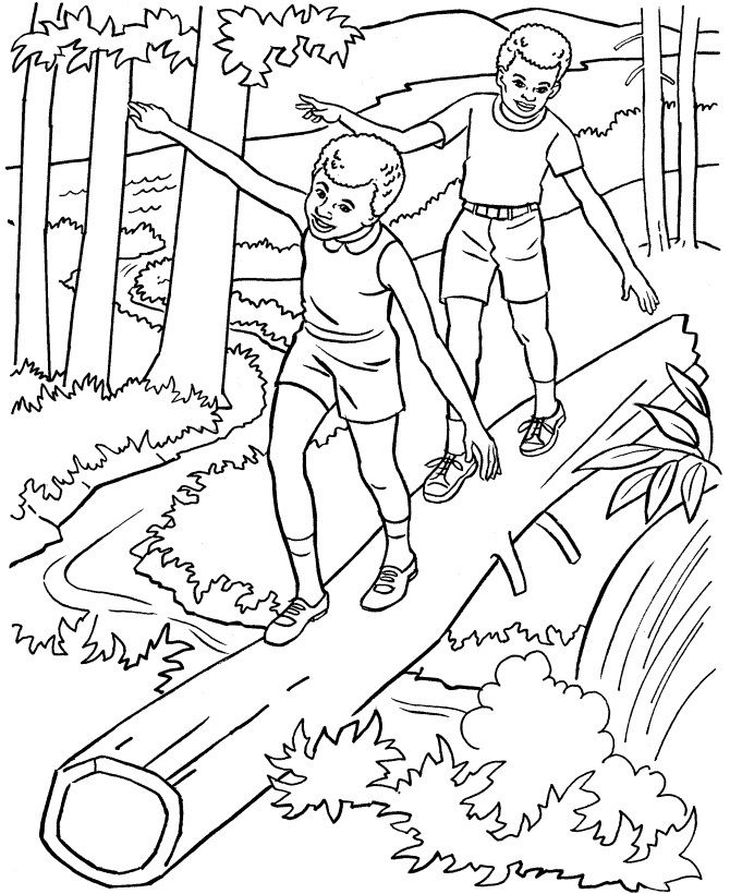 Kids Summer Coloring Pages Free Printable Nature Hikes Season Featuring Book Page Sheets