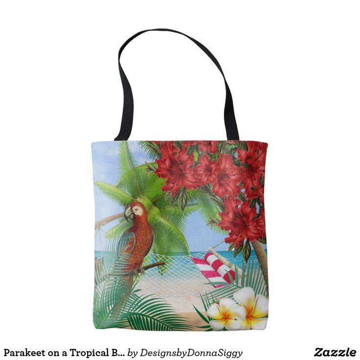 Parakeet on a Tropical Beach