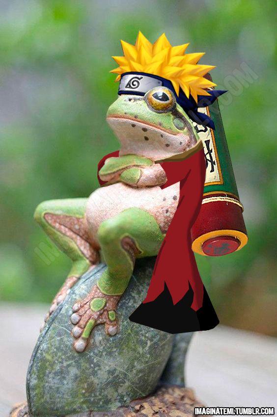 Un amigo me pidió una rana naruto…lo llamo…ranaruto! lo comparto porque si…pa las risas xD