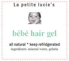 Baby hair gel