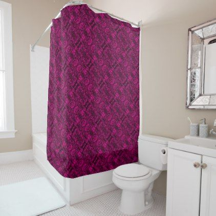 Aluminum Foil Design in Pink Shower Curtain - metal style gift ideas unique diy personalize