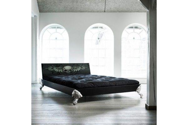 Karup EAGLE Massivholzbett Black Scull 140 x 200 cm-46621133