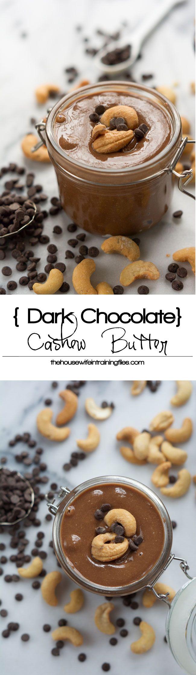 Salted Dark Chocolate Cashew Butter