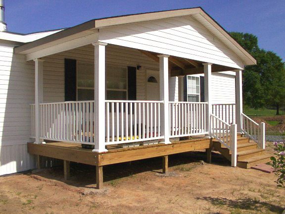 Modular porches mobile home decks new modular for Mobile home plans with porches