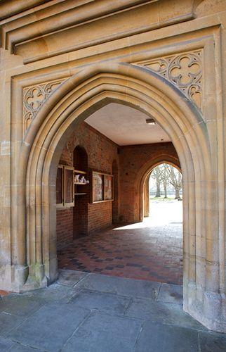 Winchester College notice boards.