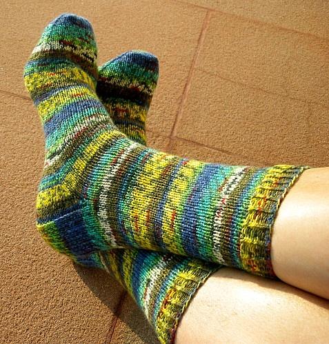 Explications d'Imawale pour tricoter des Chaussettes avec 2 aiguilles circulaires
