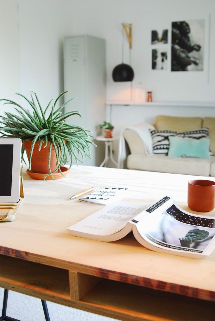 DIY Workspace table... | - AestheticYou - underlayment, diy, vintage, workspace.