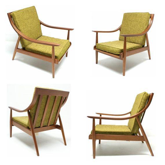 Vtg Unique Mid Century Modern Lounge BENTWOOD Arm Chair Danish Selig Larsen  Era On Etsy,
