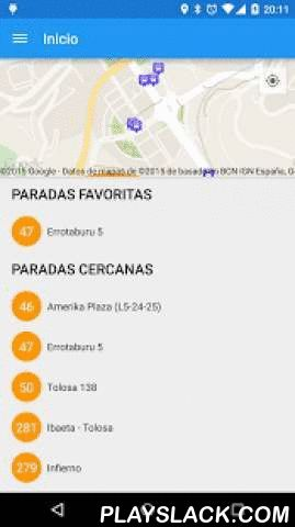 Donosti Bus  Android App - playslack.com , Toda la información de los autobuses urbanos de Donostia - San Sebastián.- Consulta el recorrido de las diferentes lineas.- Localiza las paradas cercanas gracias al mapa y al uso del GPS.- Añade tus paradas más utilizadas a favoritos.- Consulta el tiempo de llegada de los autobuses a cualquier parada.- Consulta las últimas noticias sobre cambios en las lineas de autobús.- Opción de elegir el idioma de la aplicación entre Euskara y Castellano.Para…