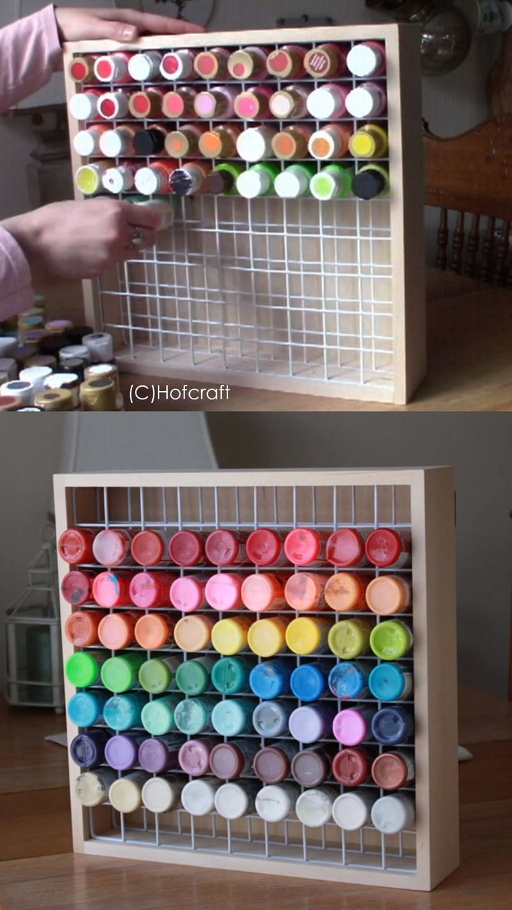 Paint Storage Rack Organizer
