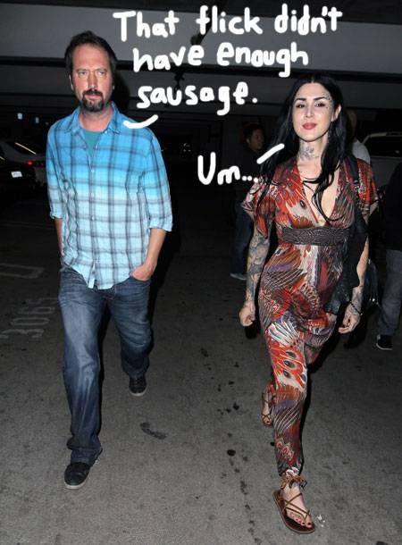 Kat Von D goes on a movie date with Tom Green on his birthday.