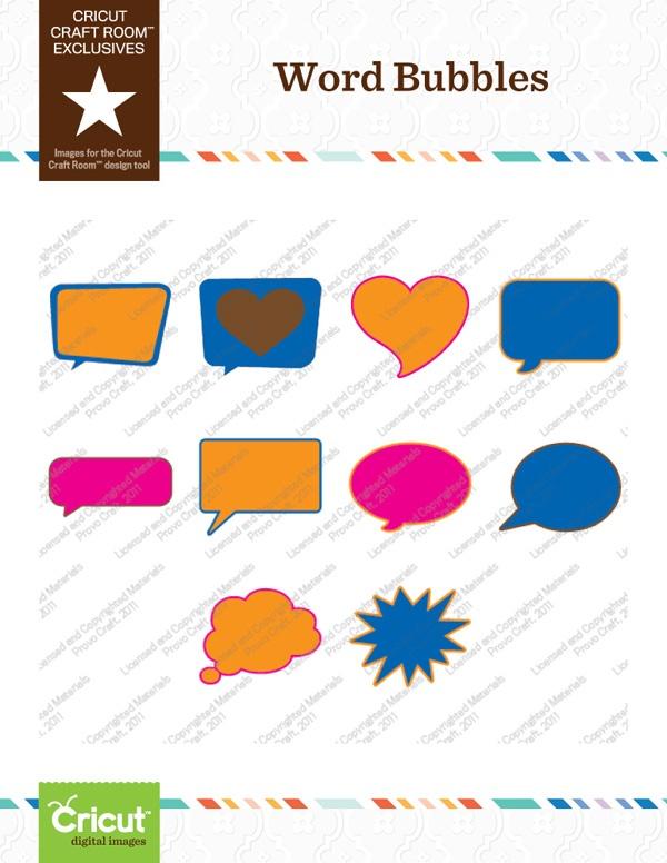 Cricut Craft Room Exclusive: Word Bubbles Part 28