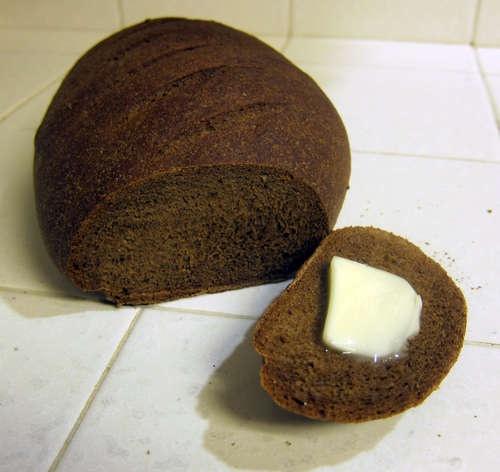 Thom's Pumpernickel Bread...has good advice on how to cook bread