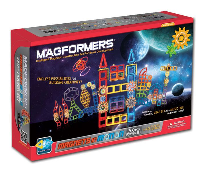 Building enthusiasts can construct anything they imagine with the 300Pc Signature set from MAGFORMERS® Magnets in Motion Line. Engineers of the future are sure to be inspired with the possibilities offered by 21 different geometric shapes, coupled with various quantities of 49 accessories.