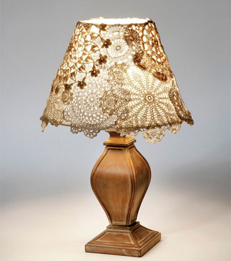 123 best Doily lamp images on Pinterest   Doily lamp, Lampshades ...