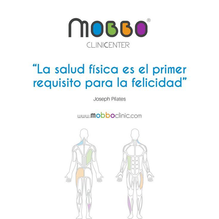 """MOBBO clinicenter ® """"La salud física es el primer requisito para la felicidad."""" Joseph Pilates  TU BIENESTAR EN MOVIMIENTO #SaludyDeporte #AnalisisdeBiomecanica #Fisioterapia #Osteopatia #Rehabilitacion #MedicalGYM #fitness #Readaptacion #CardioSPORT #entrenamiento #Vascular #ClinicSPINE #HerniaDiscal #NeuroFIT #RehabilitacionNeurologica #UnidadDolorCronico #dolor #motivaciongym #salud #bienestar #vive #ejercicioterapeutico  #deporte  CITA PREVIA: Avda. Portugal, 4 Huelva T. +34 959 10 22 00"""