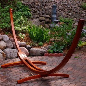 Algoma 12 ft. Wooden Arc Hammock Stand - Hammock Stands & Accessories at Hayneedle