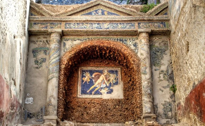 Mosaic at Pompeii ruinsRome More Pins Like This At FOSTERGINGER @ Pinterest