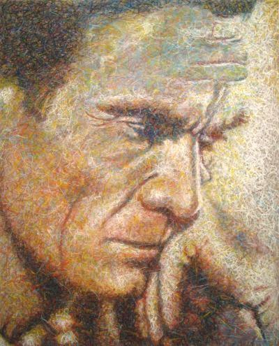 PASOLINI Pittura,MDF, 73 x 90 cm, 2008  contatti: studio.montanaro.mt@gmail.com tel.0835 312459