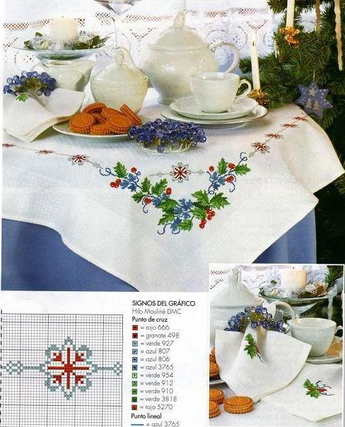 Embroidery-designs, Κεντήματα-σχέδια, Χριστούγεννα-Πρωτοχρονιά, Τραπεζομάντηλα,
