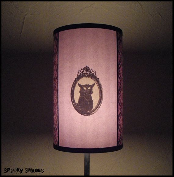 Hypnotic Violet Lampshade  goth decor by SpookyShades on Etsy, €45.00