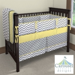 Design your own crib bedding. I did this with Soren's crib an I'm pretty sure baby #2 will get the same  awesome bedding.