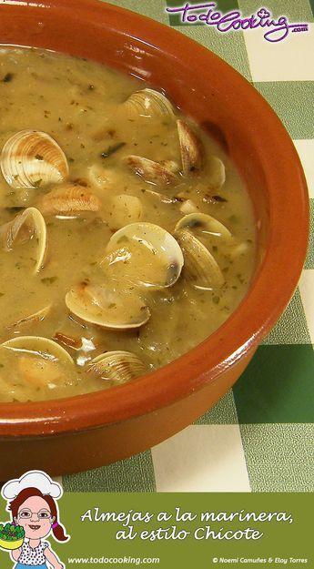 Almejas a la marinera -- Una receta de chuparse los dedos.  Estas almejas a la marinera, al estilo del cocinero Alberto Chicote, seguro que te encantan! #receta #almejas #chicote