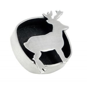 Deer lapel pin in sterling silver - $176