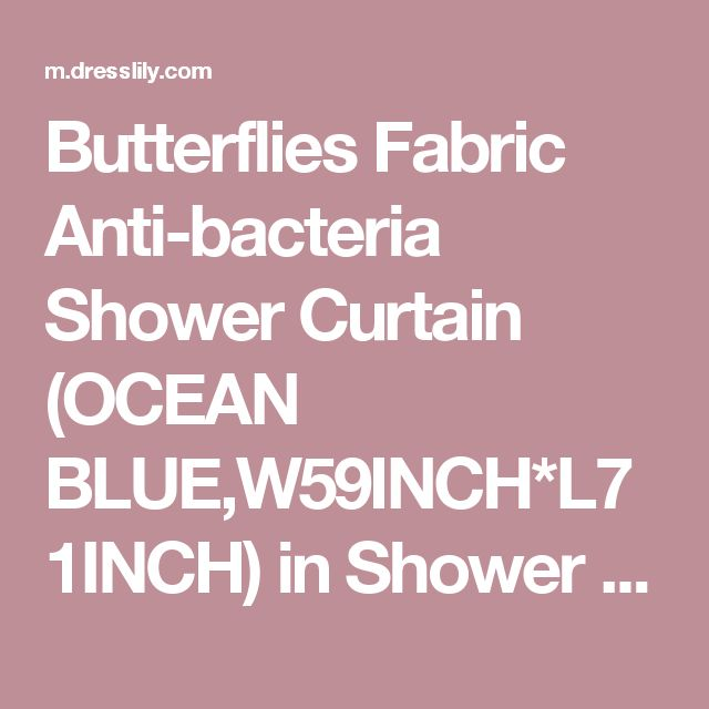 Butterflies Fabric Anti-bacteria Shower Curtain (OCEAN BLUE,W59INCH*L71INCH) in Shower Curtains | DressLily.com