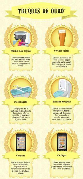 Dicas de limpeza e utilidades domésticas