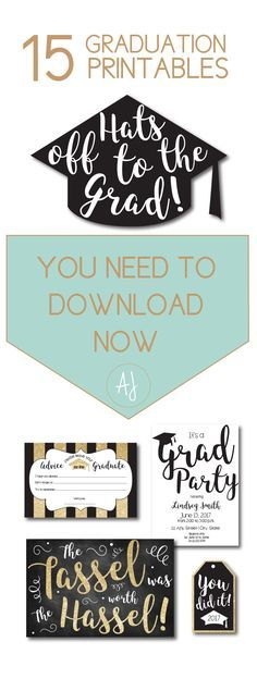 15 graduate designs that you need to download now or create with these freebies