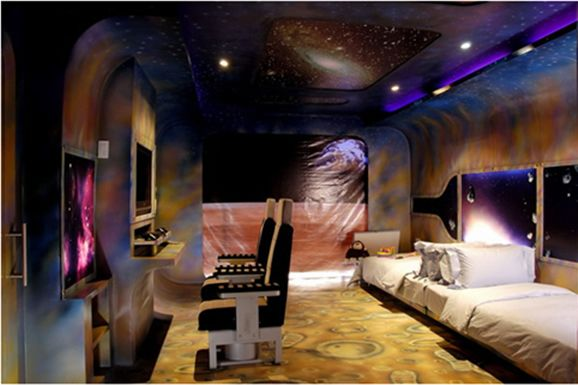 Boys space themed bedrooms decor themes for Interior design theme ideas