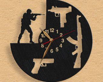 Coser salón reloj de pared reloj de madera confección de 12