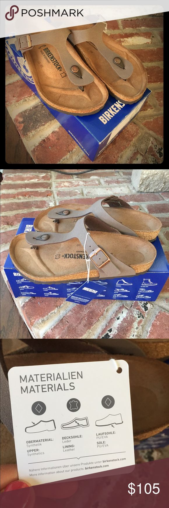 Gizeh Birkenstock slippers Brand new with original box, regular fit- original Birko floor, rare mocca color. Just purchased in Germany, don't wait make them yours today!!! Birkenstock Shoes Slippers
