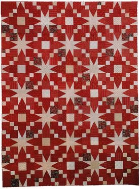 Ring of Stars Quilt Pattern Download by Nancy Rink Designs now available at ConnectingTheads.com