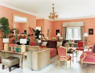 Modern Living Room And Peter Cook In Bridgehampton, New York