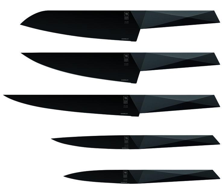 Set of 5 Evercut Furtif knives by TM