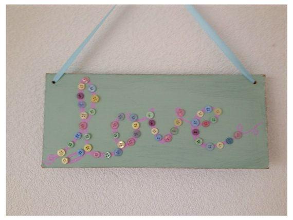 Handmade Shabby Chic Love Plaque Sign