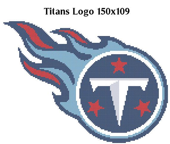 Tennessee Titans Logo  Counted Cross Stitch by StitcherUniverse, $2.50