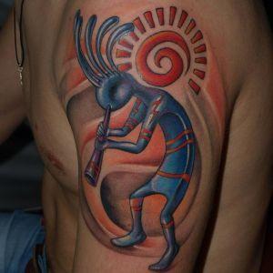 Татуировка кокопелли: значение, фото, эскизы