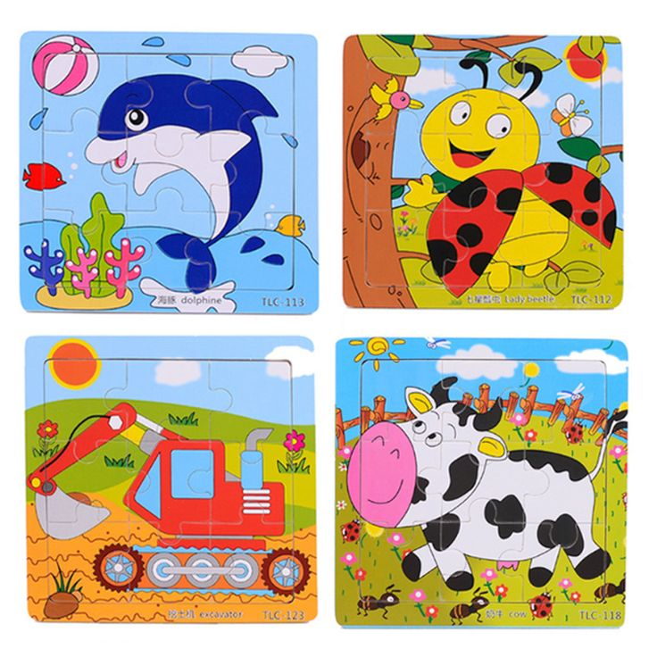Free Wooden 3d Jigsaw Puzzle Learning Education Baby Kids Toys Wood Puzzles Toys For Children Educational Games Sale